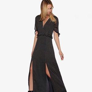 Avec Les Filles   La Joie Clip Dot Maxi Dress